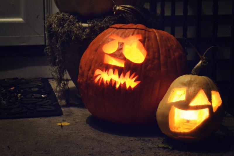 Aidan & Augie (in pumpkins)