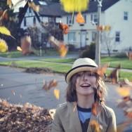 Aidan in the leaves