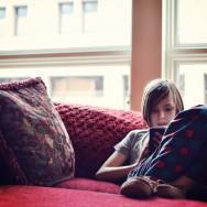 Aidan in the window