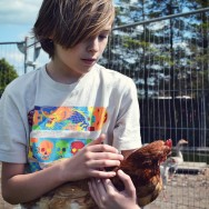 Aidan and chicken