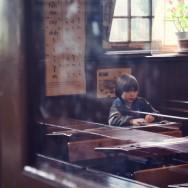 Augie in school, Beamish