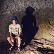 Aidan in tunnel