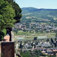 Orvieto view from wall