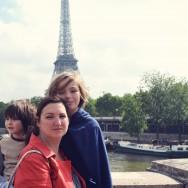 Augie, Aidan & mom...walking the Seine