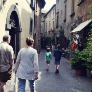 walking in Orvieto