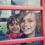 In the phone box