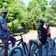 jason aidan and sam bike ride